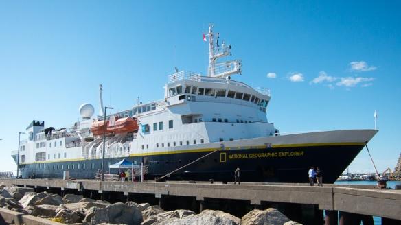 Our Ship in Isles de la Madeleine