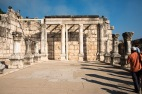 The synagogue where Jesus taught in Capernaum