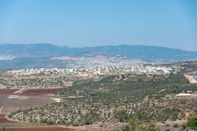 The view traveling to Beit Jann, a Druze town and the highest town in Israel