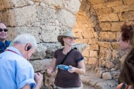 Beverly Goodman, our guide to Caesarea Maritime and a National Geographic Emerging Explorer.