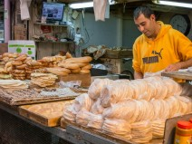 One of many bakeries in the Machane Yehuda Market