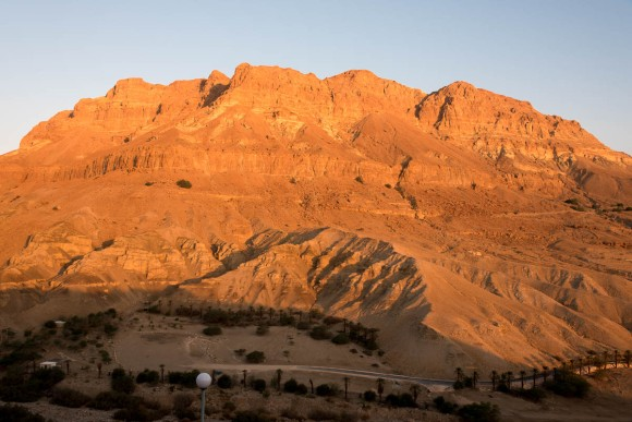 Sunrise view from our room at Ein Gedi