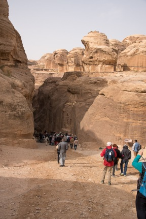 Entering the canyon that leads to Petra